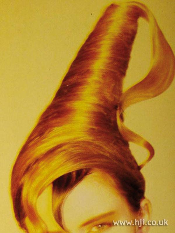 1986 blonde avant garde hairstyle