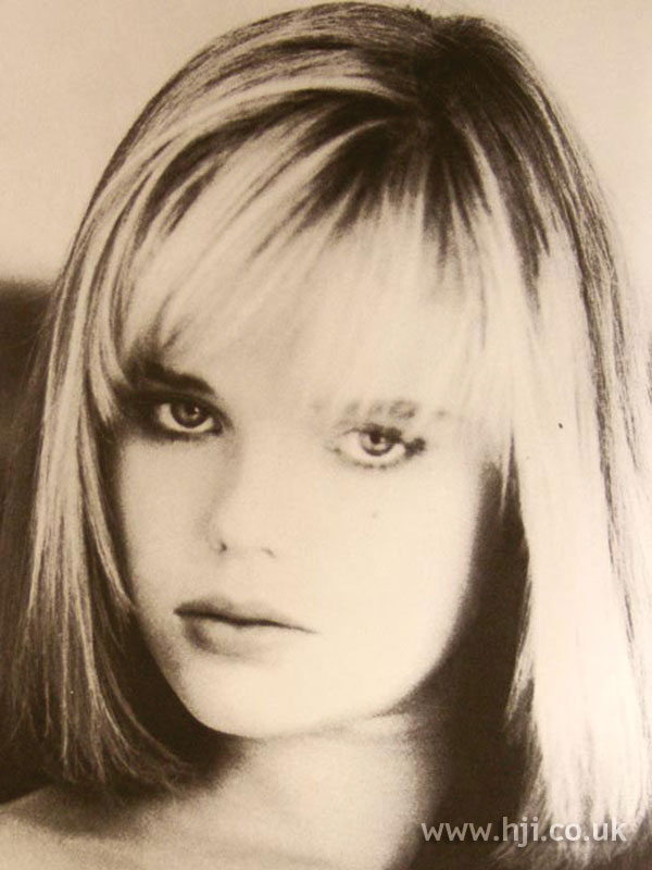 1986 blonde bob hairstyle