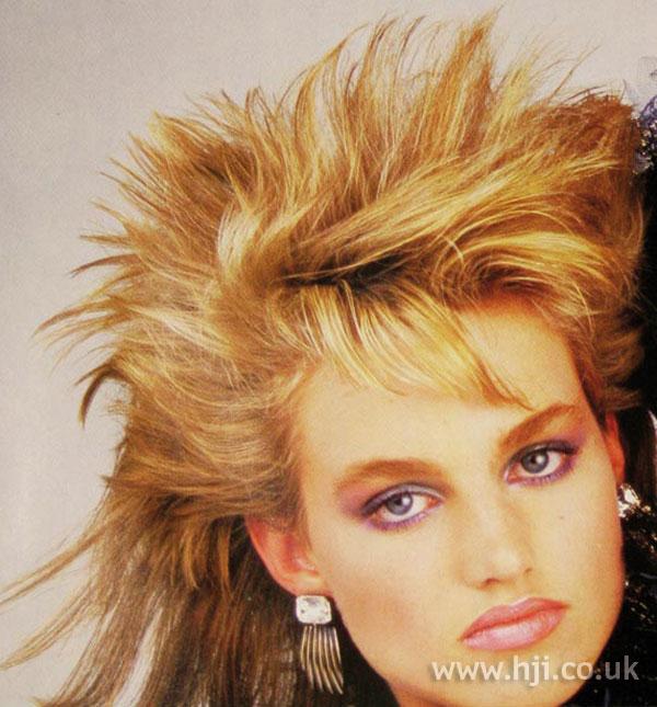 1986 blonde layered mullet