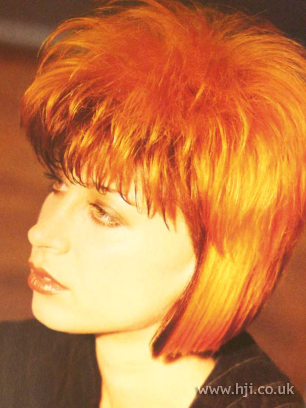 1986 copper bob hairstyle