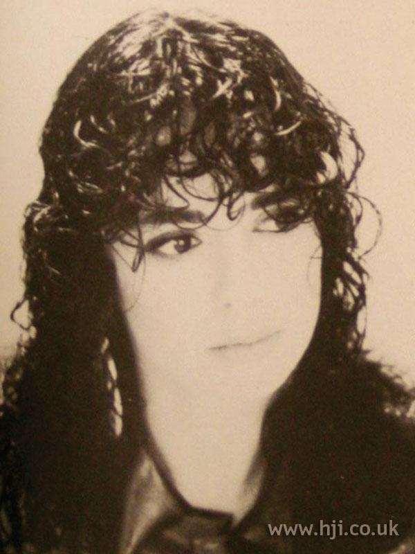 1986 gelled curls