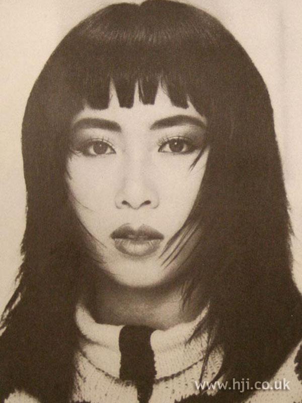1986 layered straight hairstyle