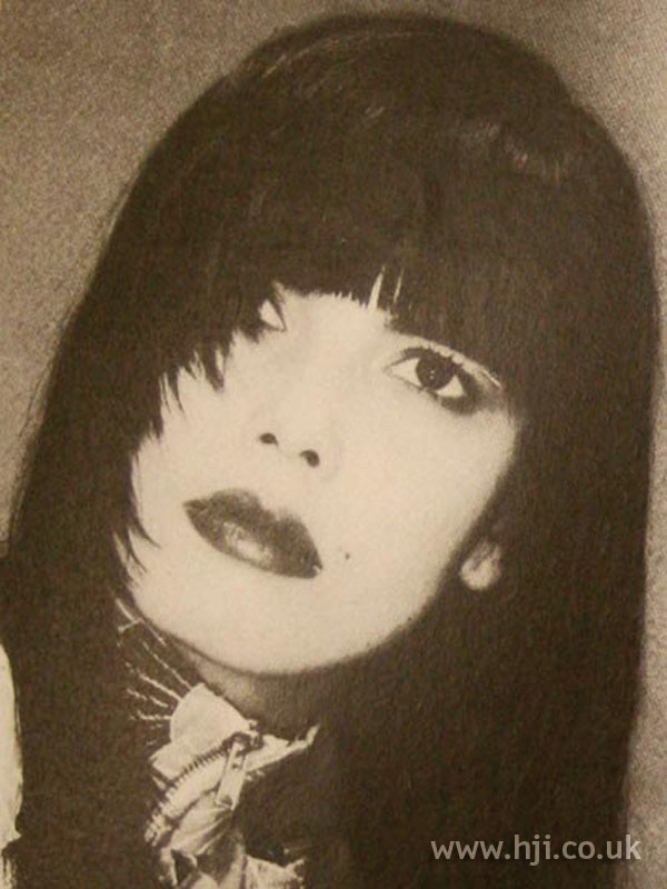1986 long black hairstyle