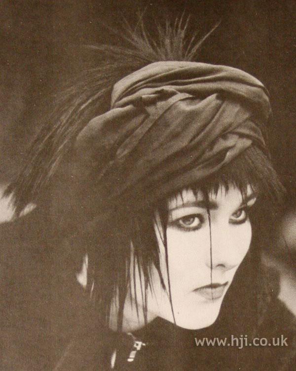 1986 spiky hair with turban