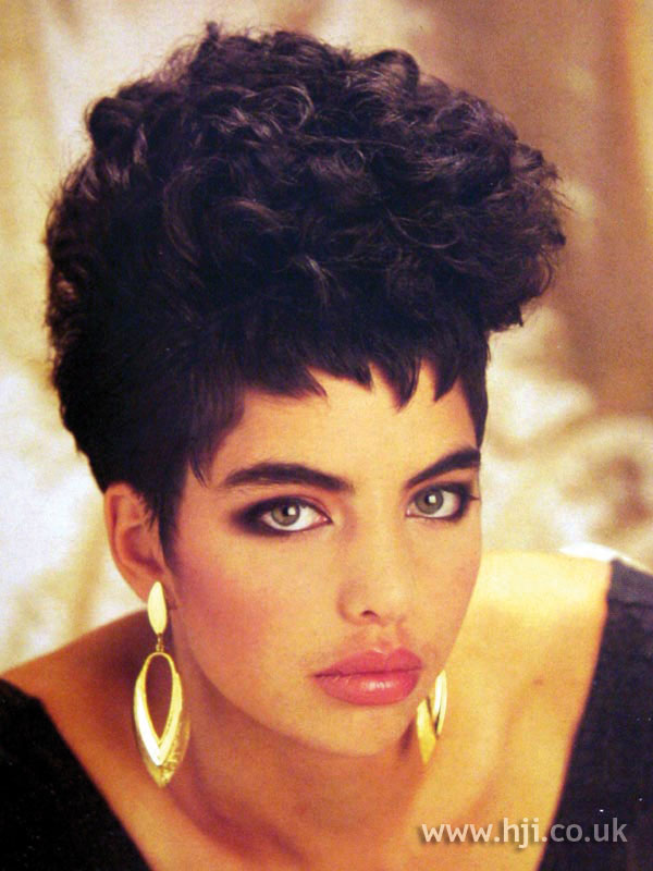 1987 afro curly updo hairstyle