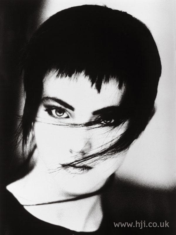 1987 black choppy hairstyle