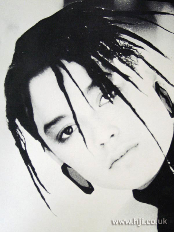 1987 black twisted spike hairstyle