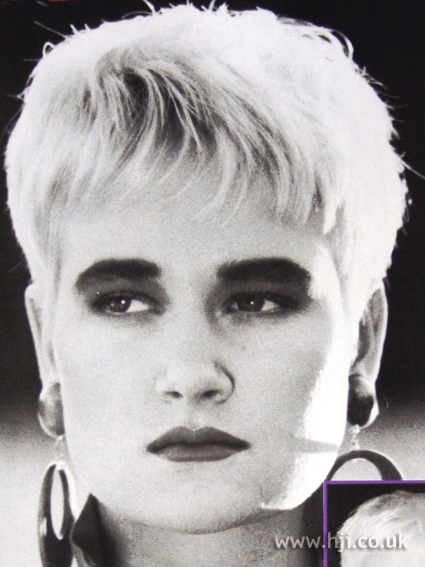 1987 short bleached hairstyle