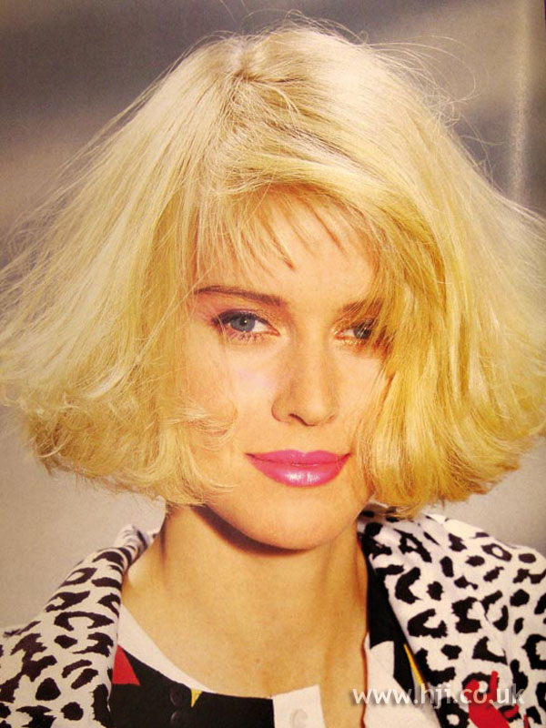 1987 blonde bob hairstyle