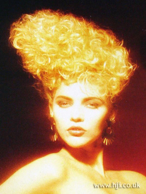 1987 avant-garde blonde curls