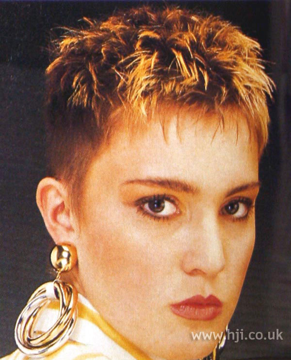 1987 blonde tips hairstyle