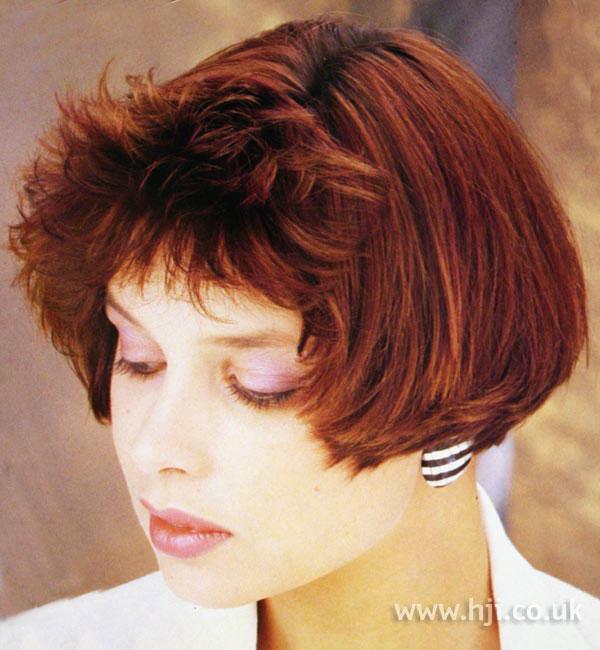 1987 layered red bob