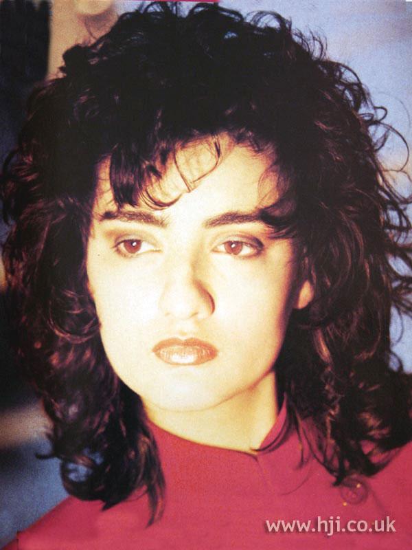 1987 brunette curls