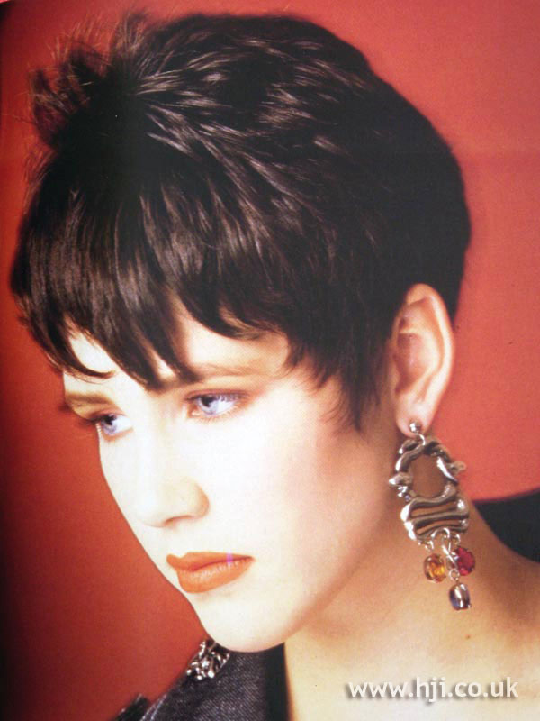 1987 brunette short hairstyle