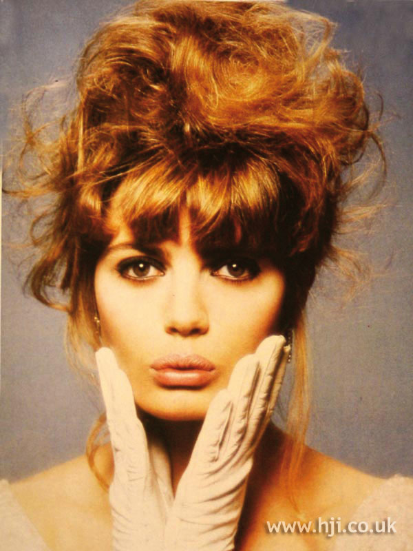 1987 dishevelled updo hairstyle