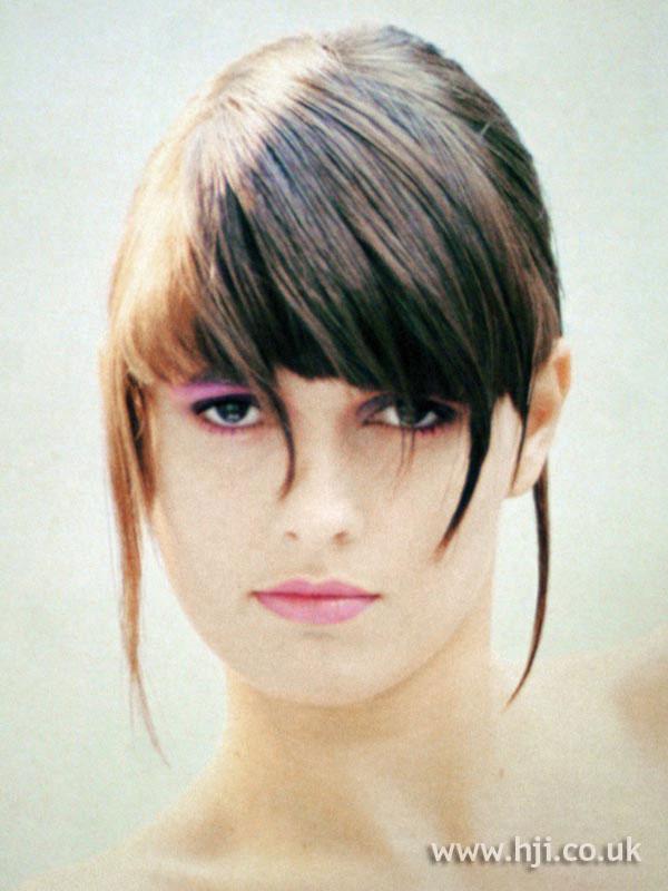 1987 glossy brunette updo