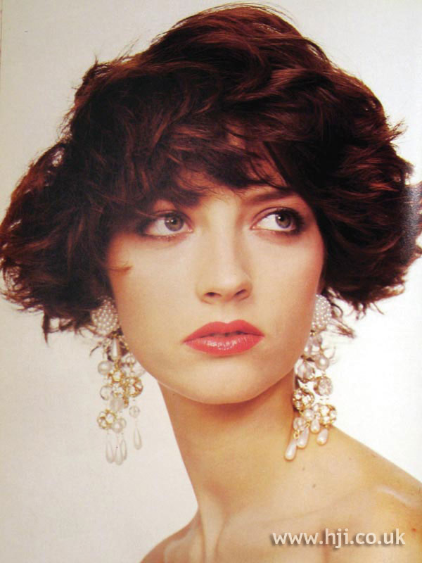 1987 layered red bob with fringe