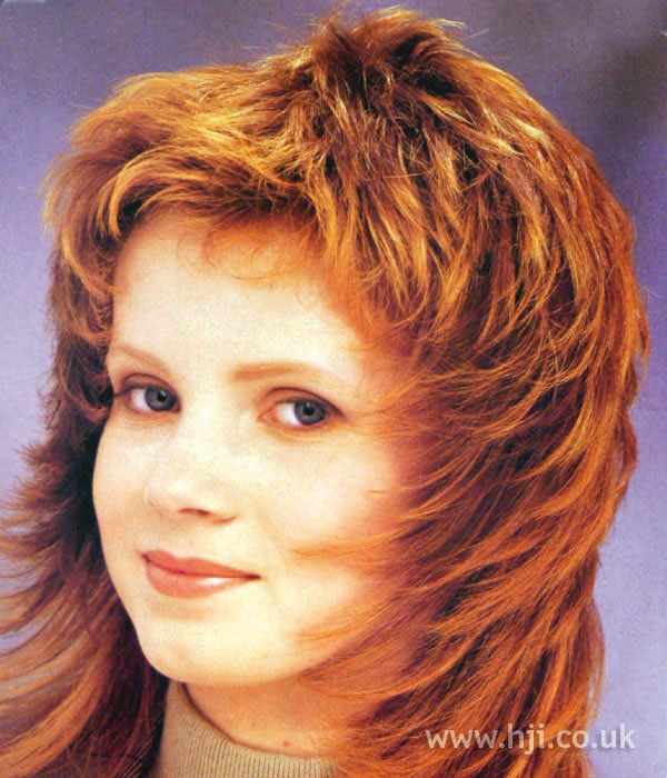 1987 layered red hairstyle
