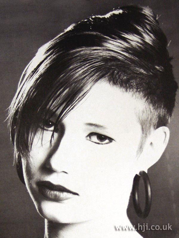 1987 short asymmetric hairstyle