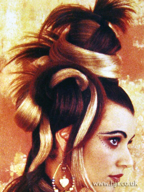 1996 creative topknot updo