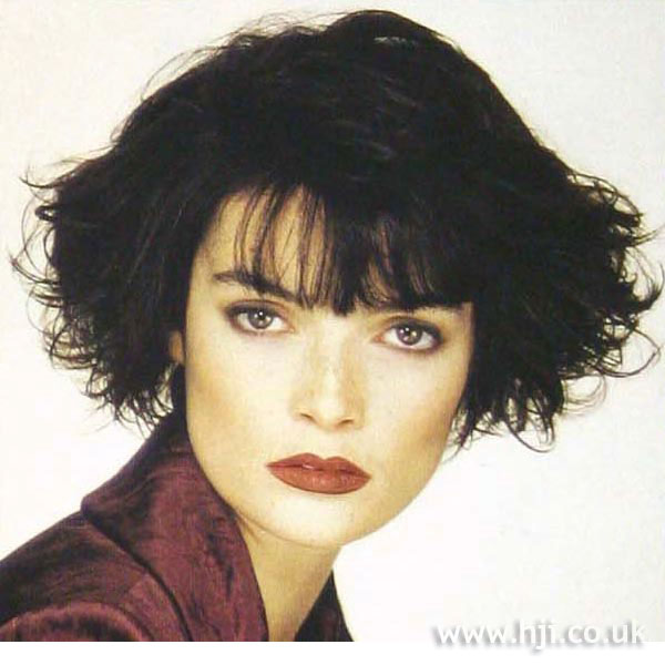 1997 curly black bob
