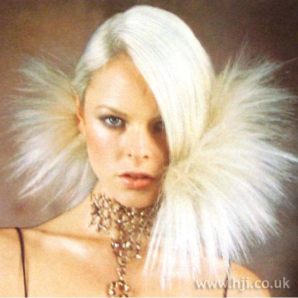 1997 blonde avant-garde hairstyle