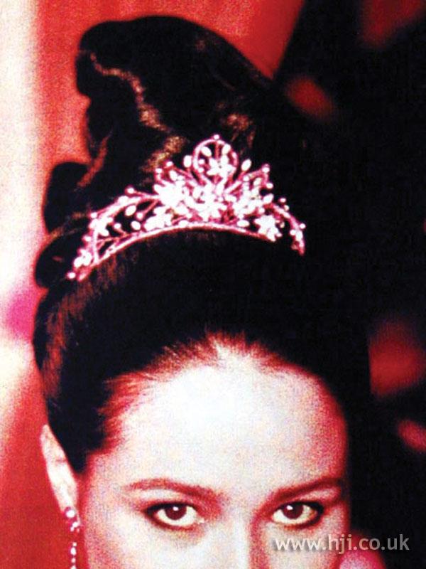 1997 brunette bridal updo