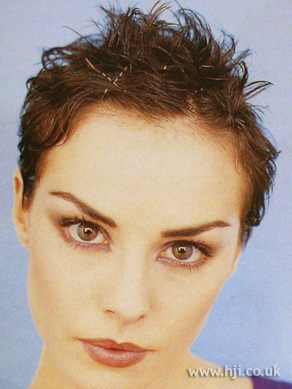 1997 brunette cropped hairstyle