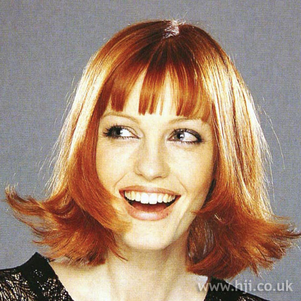 1997 long red bob with fringe