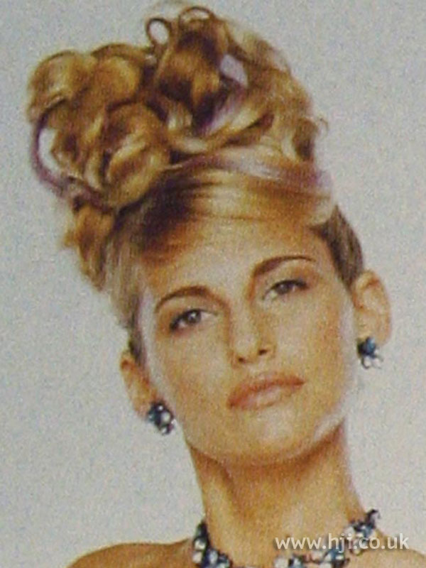 1997 blonde updo hairstyle