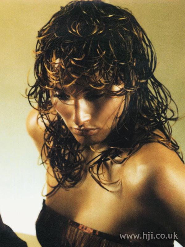 2000 brunette curls