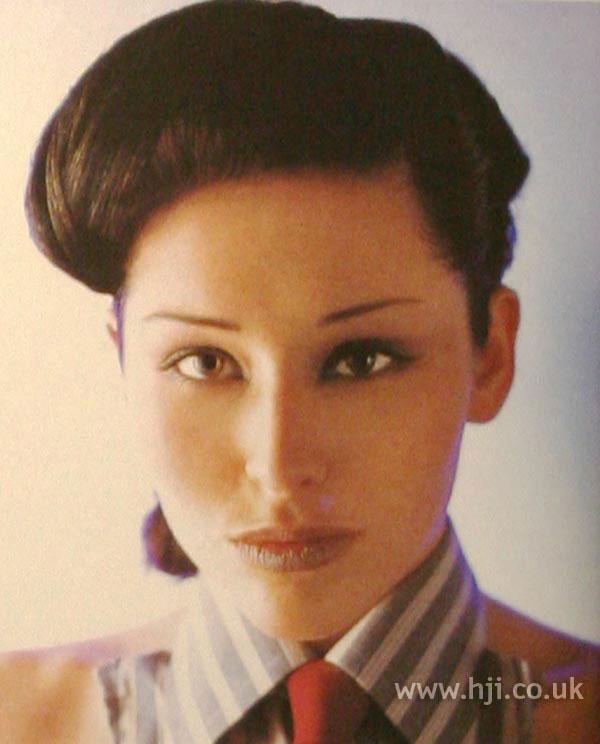 2002 brunette updo