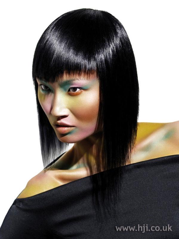 2005 long black hair with fringe