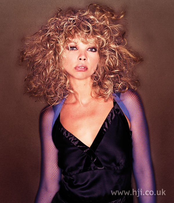 2005 blonde curly bob with fringe