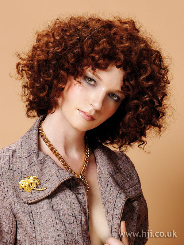 2005 red curly bob hairstyle