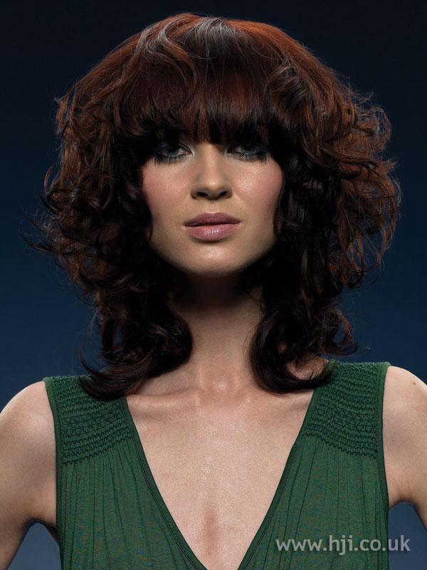 2005 curly brunette bob with fringe