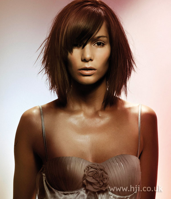 2005 mid-length hairstyle with sweeping fringe