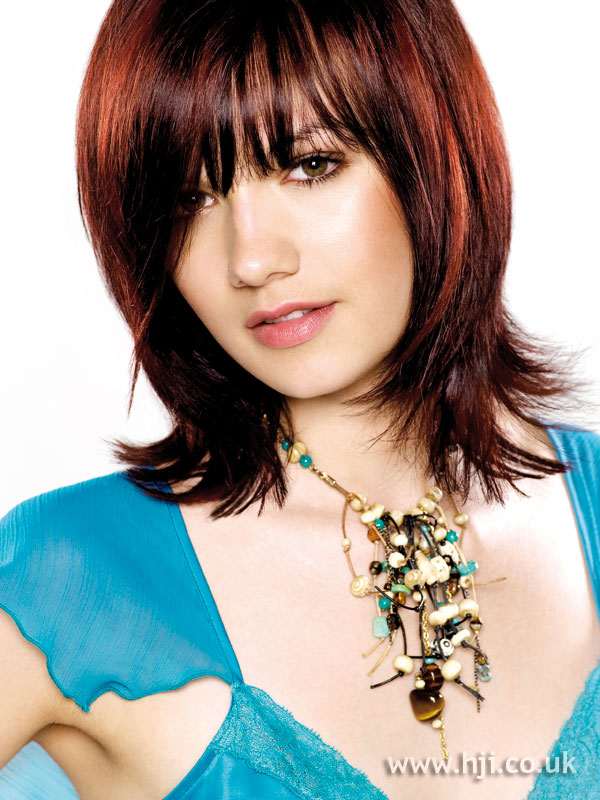2005 Mid Length Red Hairstyle
