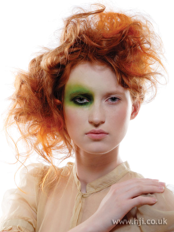 2005 redhead updo