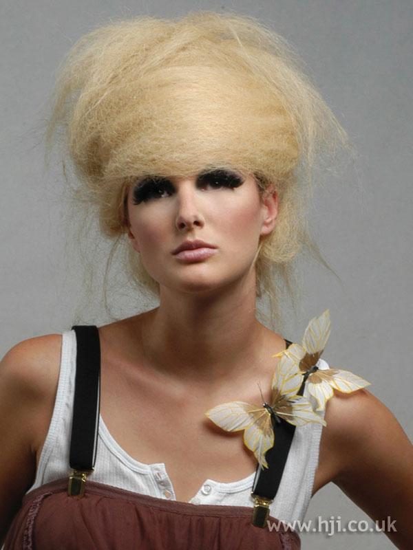 2006 blonde crimped bouffant