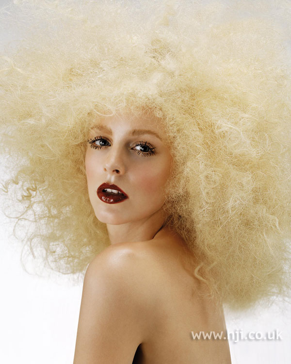 2006 blonde afro wig