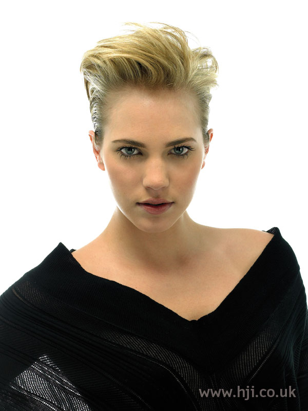 Blonde updo hairstyle with quiff