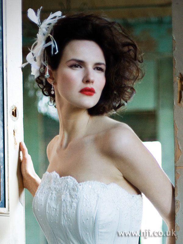 2006 brunette bridal updo