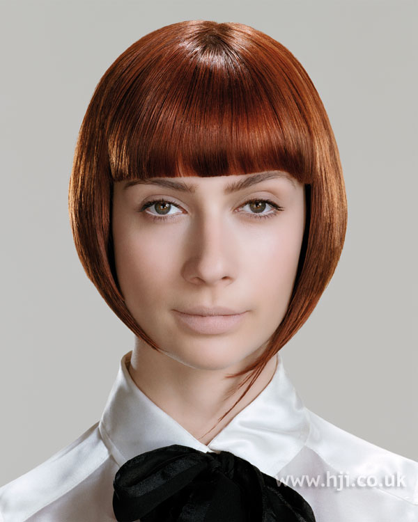 2006 copper bob with blunt fringe
