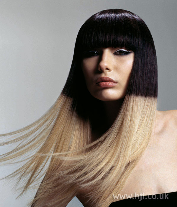 Trevor Sorbie Art Team black and blonde dip-dye