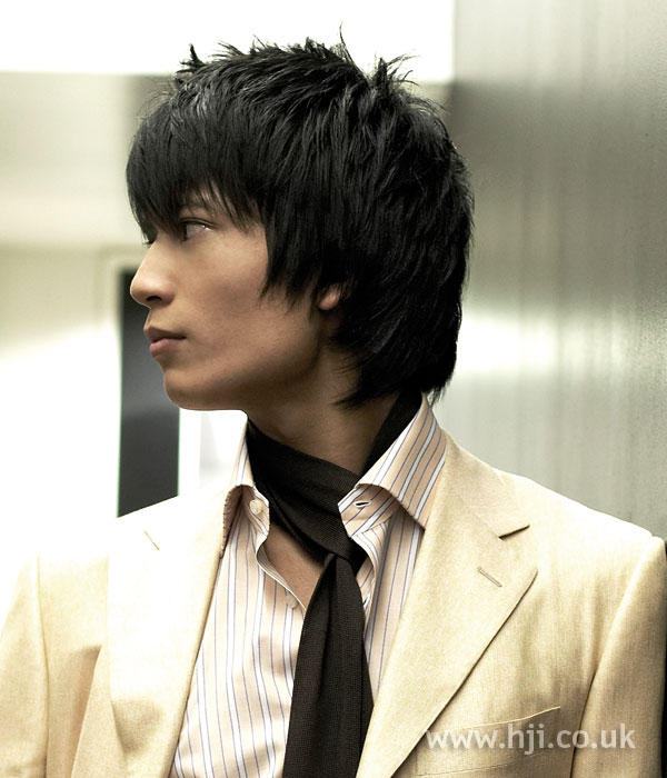 2006 men's layered black hair