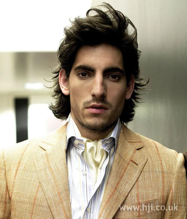 2006 men's quiff on long hair