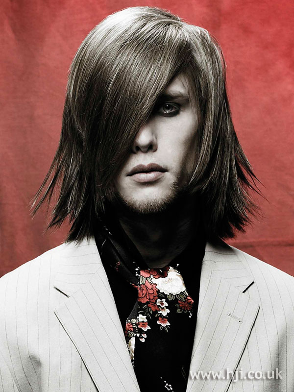 2006 men's long straight hairstyle