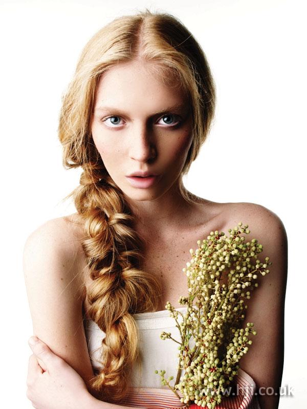 2006 asymmetric blonde plait