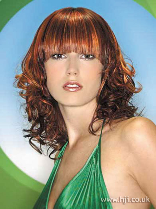 2006 red curls hairstyle